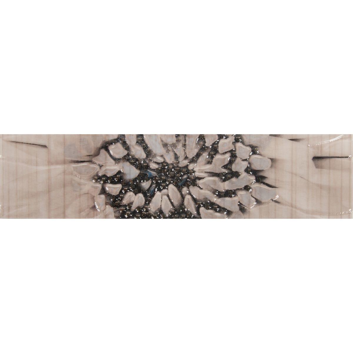 Бордюр Golden Tile «Зебрано» 25х6 см цвет бежевый