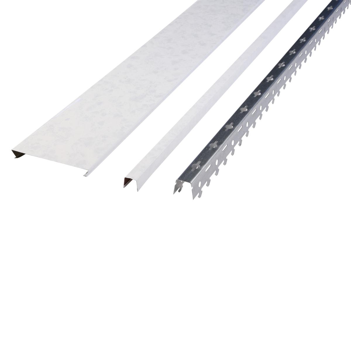 Комплект потолка 1.35х0.9 м цвет белый мрамор