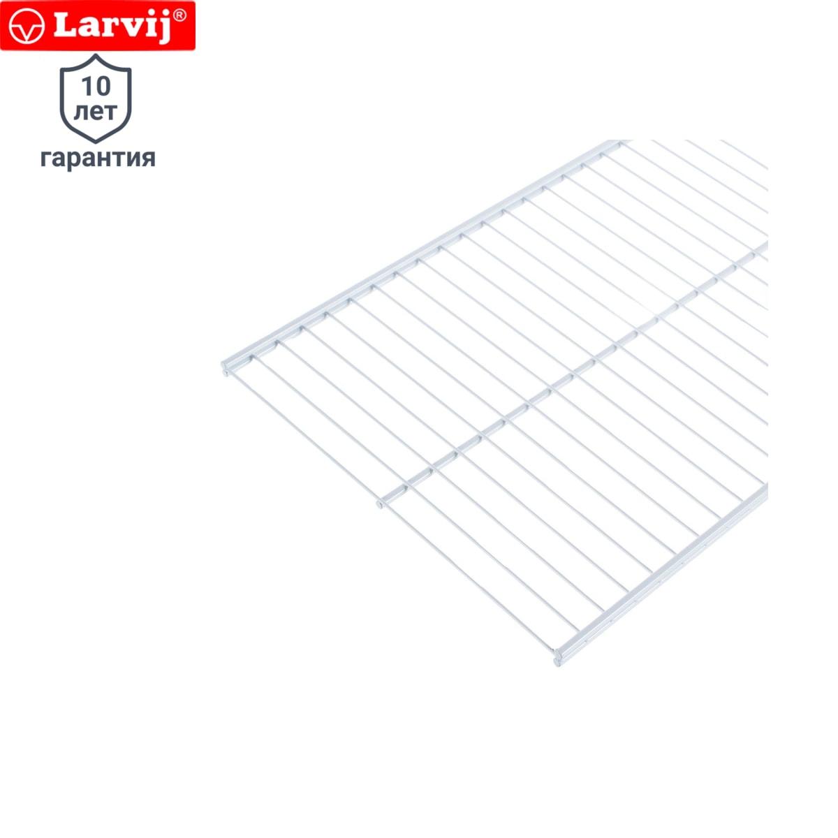 Полка сетчатая Larvij 903х306 мм цвет белый
