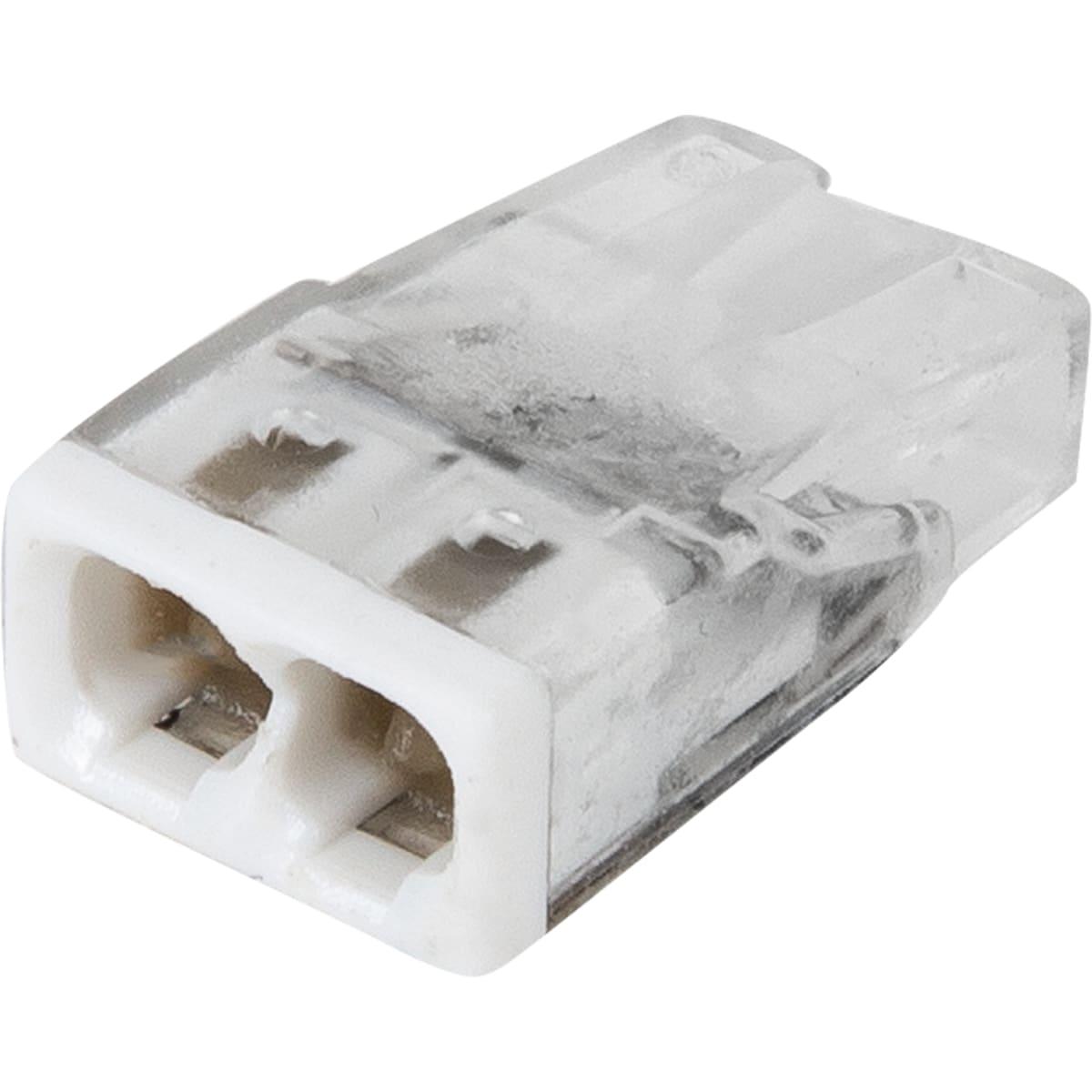 Клемма Wago 2 разъема под провода с пастой, 10х5.8х16.7 мм, поликарбонат, 6 шт.