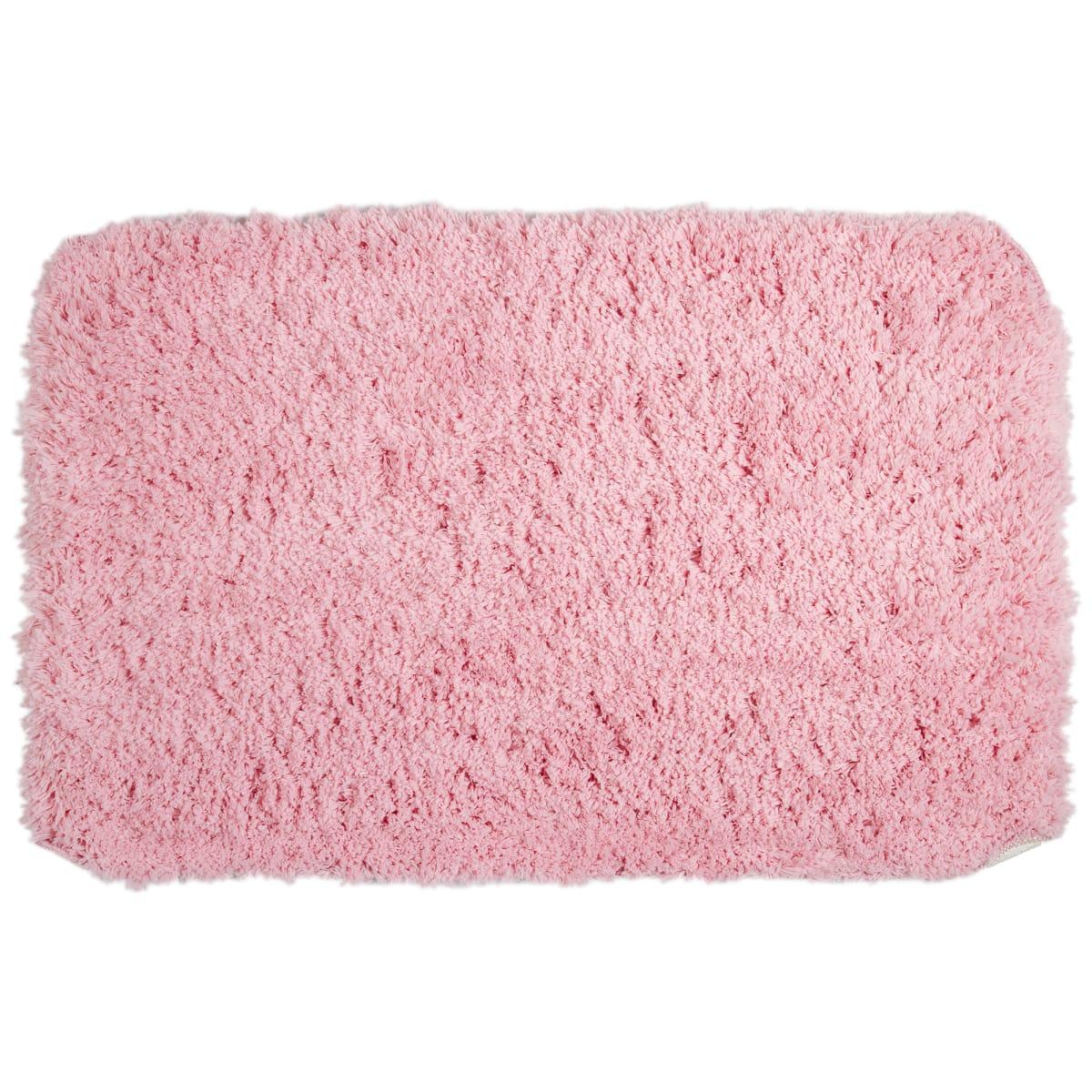 Коврик для ванной комнаты 60х90 см цвет розовый