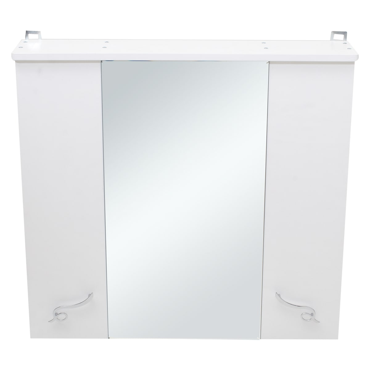 Шкаф зеркальный «Венеция» 75 см цвет белый