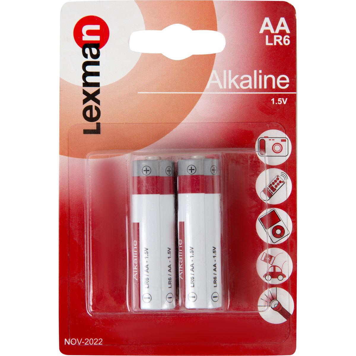 Батарейка алкалиновая Lexman AA 2 шт.