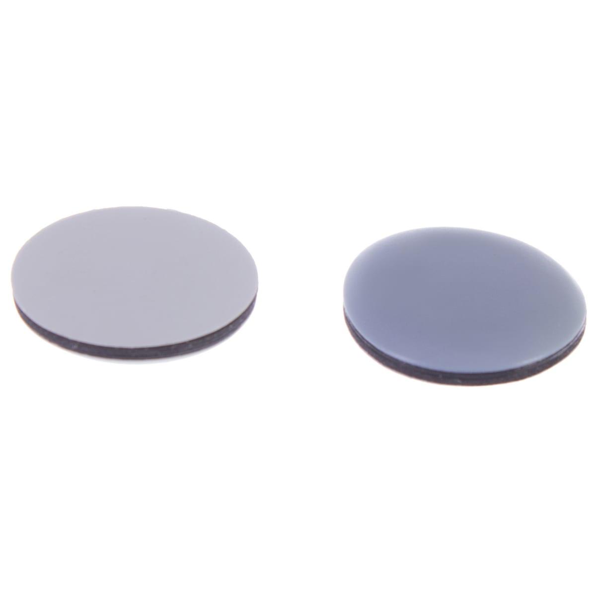 Накладки Standers PTFE 50 мм, круглые, пластик, цвет серый, 4 шт.
