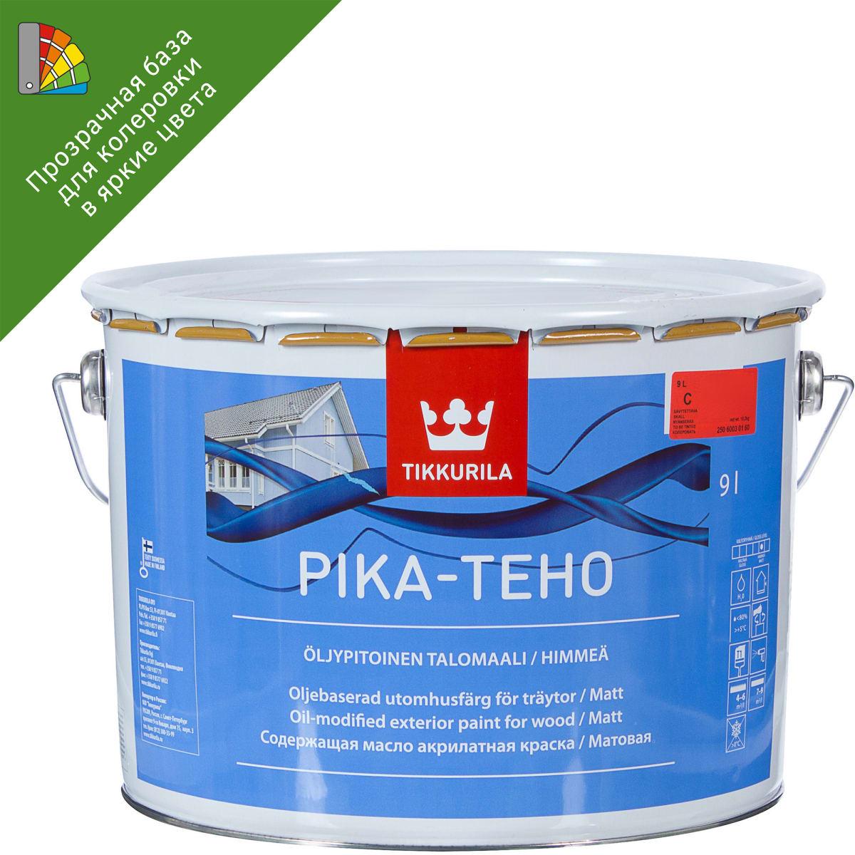 Краска для колеровки фасадная Tikkurila «Pika-Teco» 9 л прозрачная база C