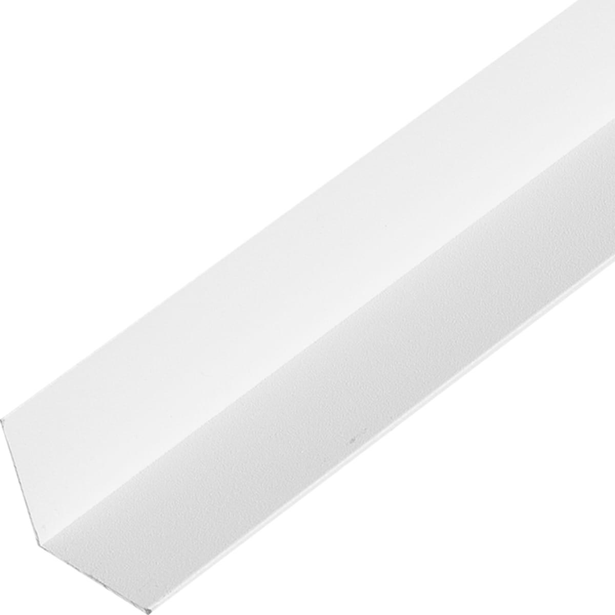Уголок алюминиевый 20х20х1, 2 м, белый муар