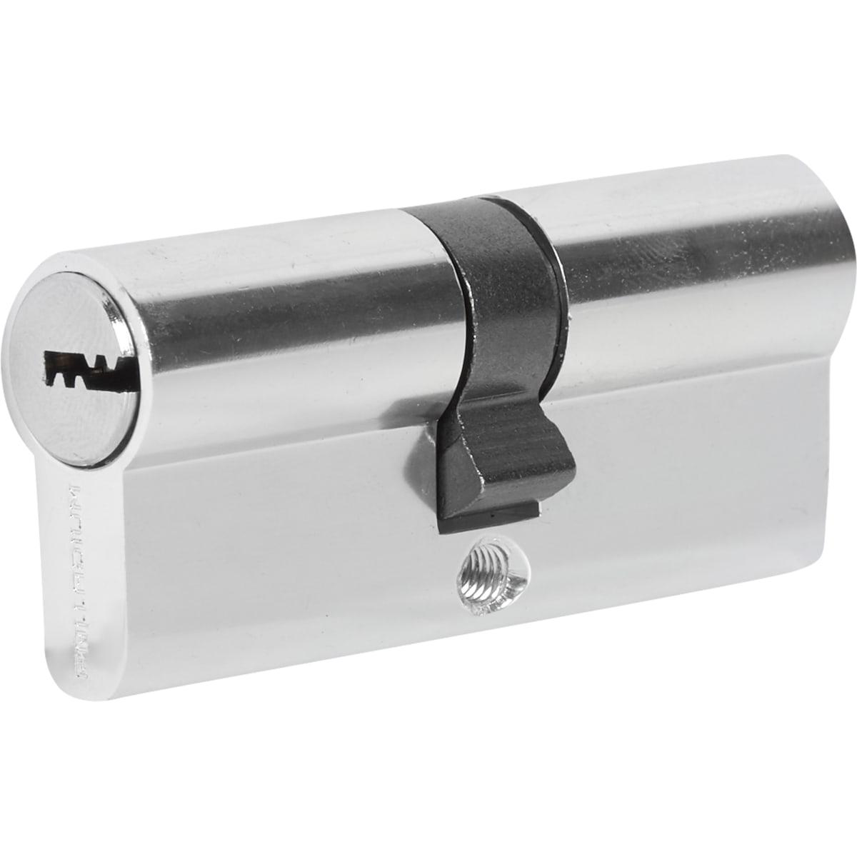 Цилиндр перфорированный Al 70 C CP ключ-ключ, хром