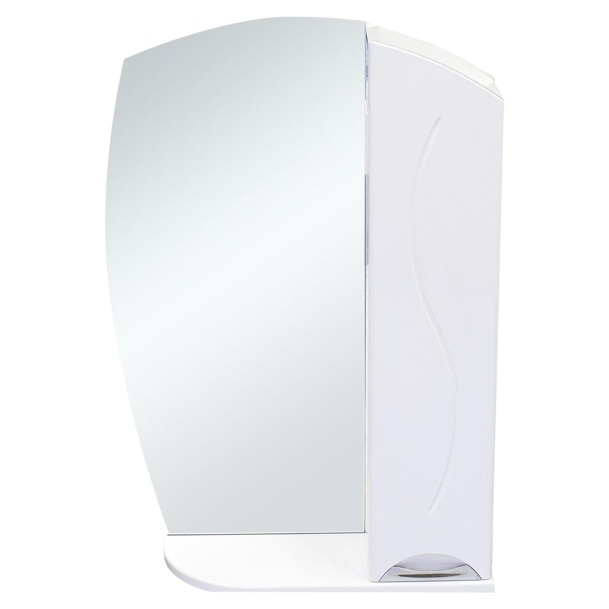 Шкаф зеркальный «Глория» 75 см цвет белый