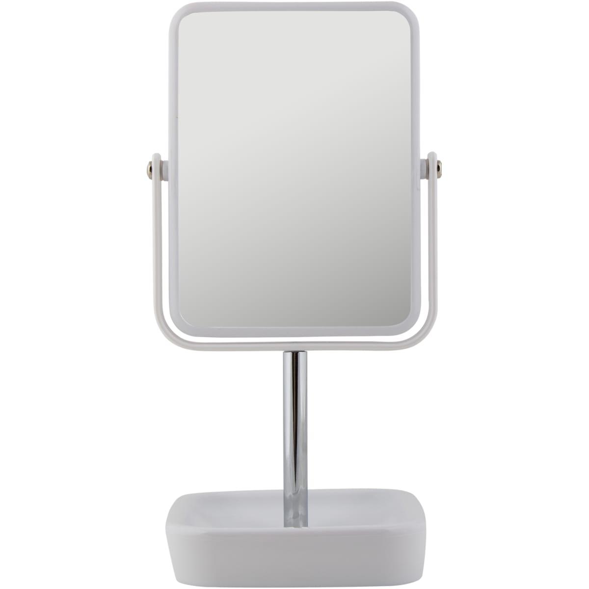 Зеркало косметическое настольное увеличительное 17 см цвет хром