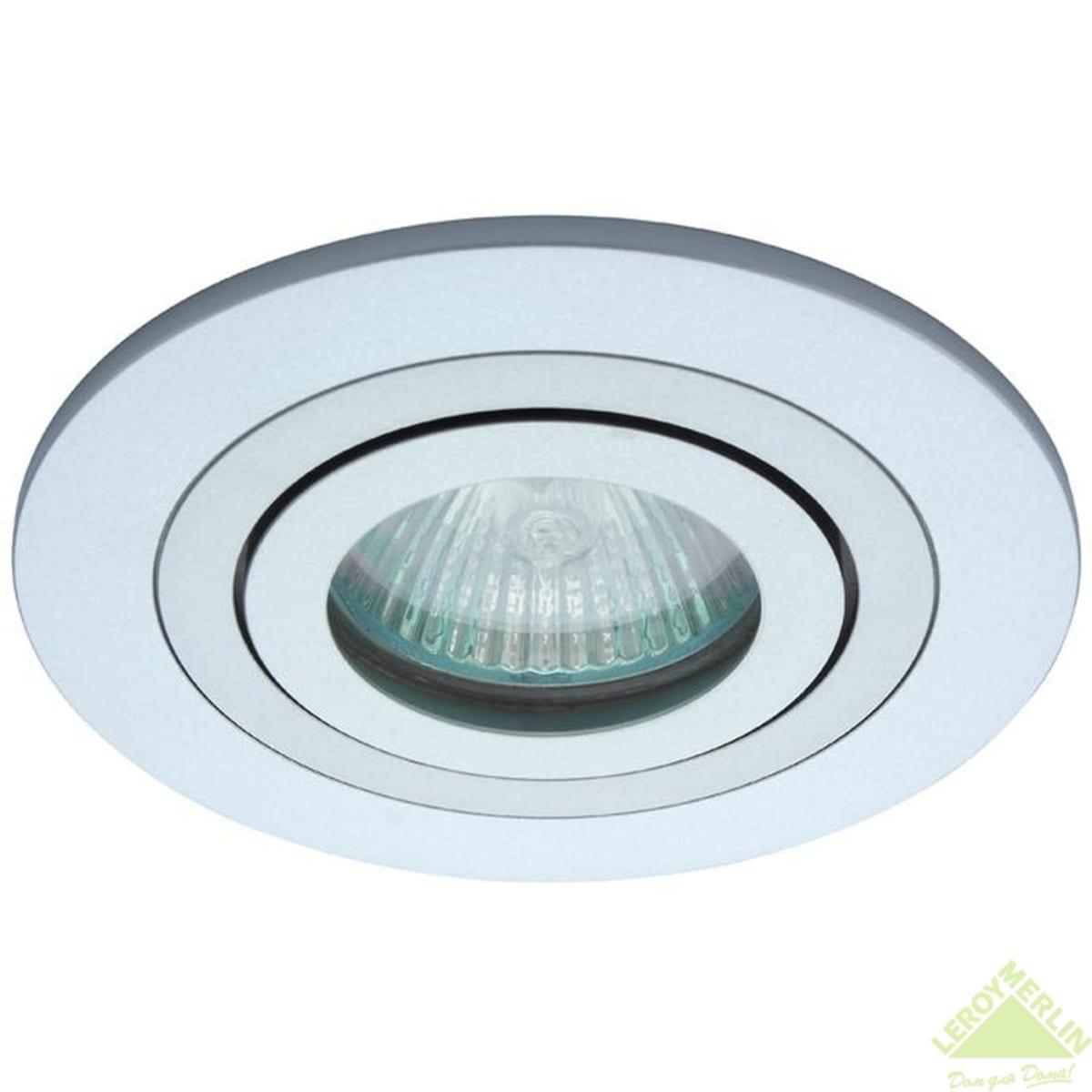 Спот встраиваемый поворотный Power Light 6215/1-4SCH, GU5.3, 50 Вт, цвет матовый хром