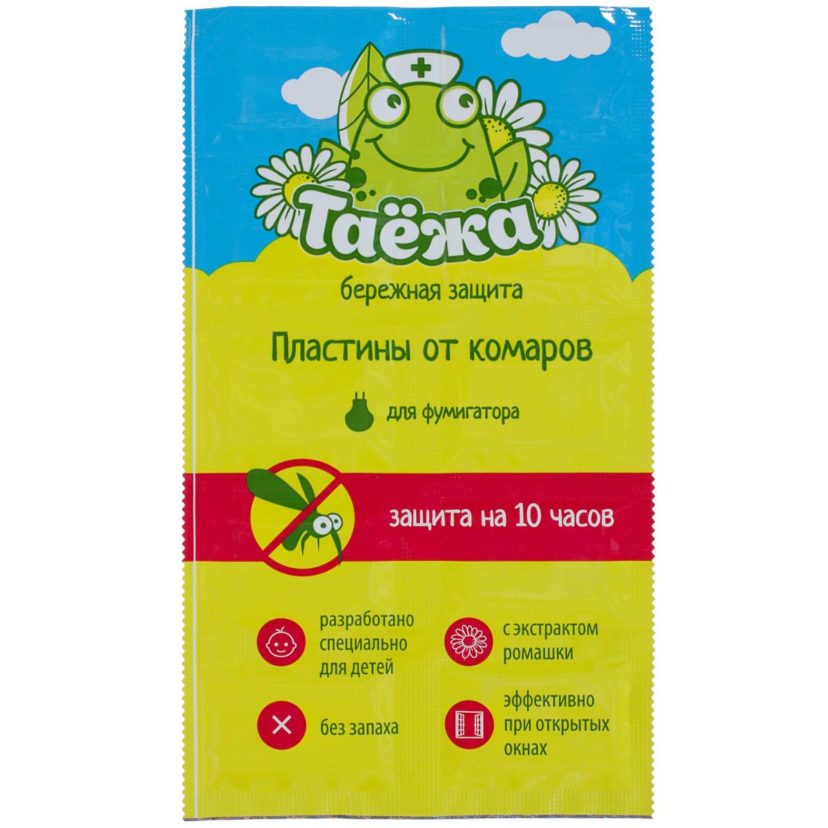 Пластины от комаров Таежа, 10 шт.