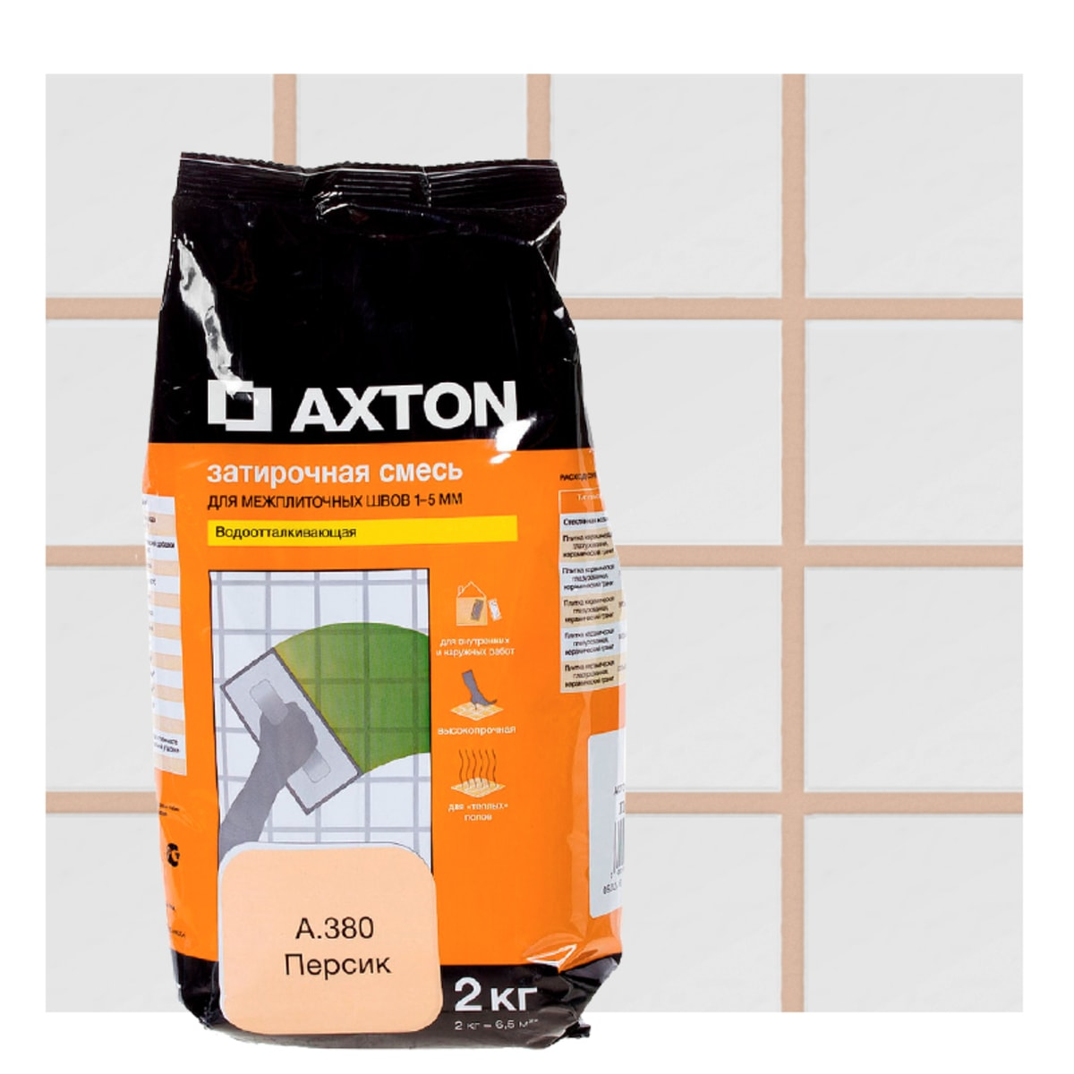 Затирка цементная Axton А.380 2 кг цвет персик