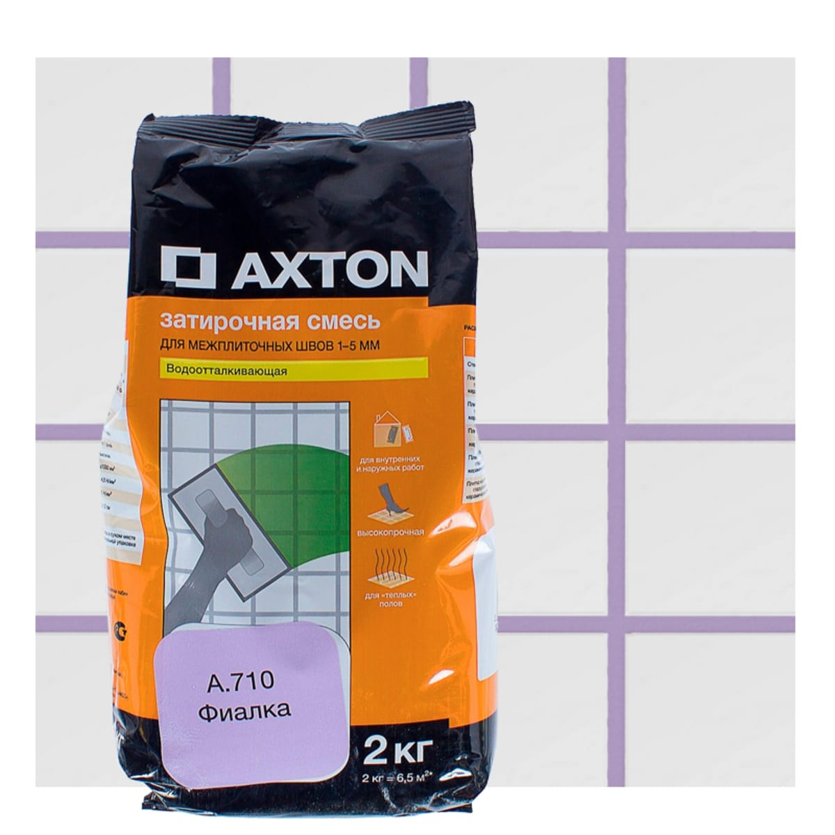 Затирка цементная Axton А.710 2 кг цвет фиалка