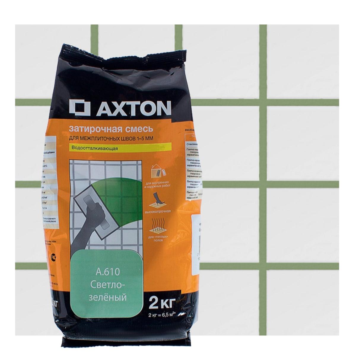 Затирка цементная Axton А.610 2 кг цвет светло-зеленый