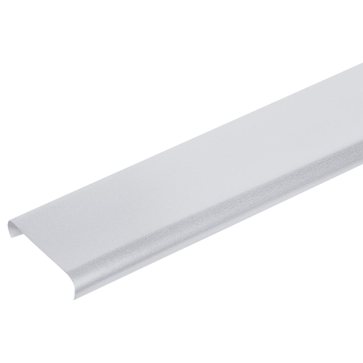 Набор реек 2х1 м цвет серебристый металлик, без раскладки