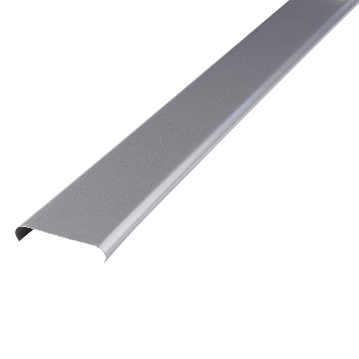 Набор реек 2.5х1 м цвет серебристый металлик, без раскладки