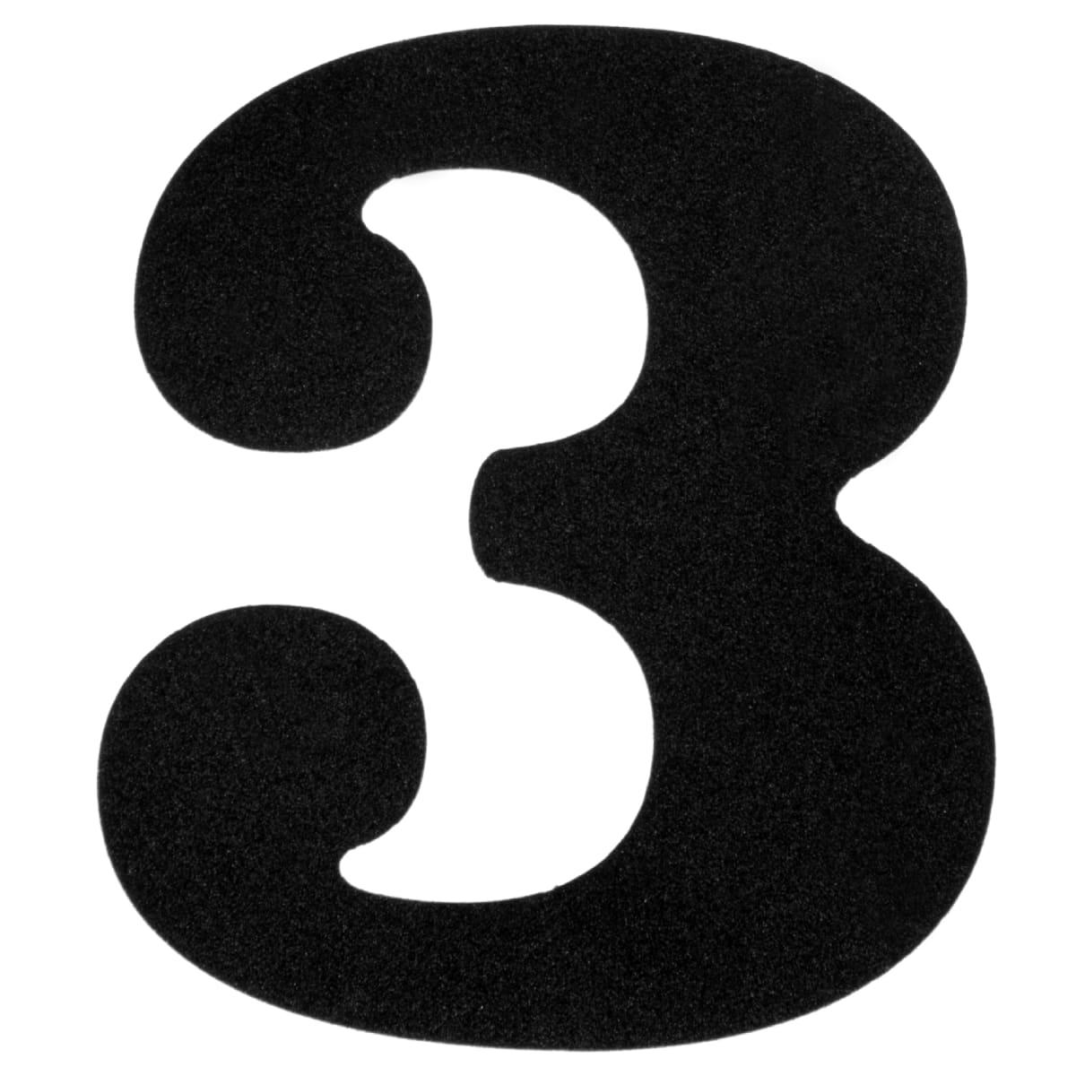 Картинка цифра три шаблон