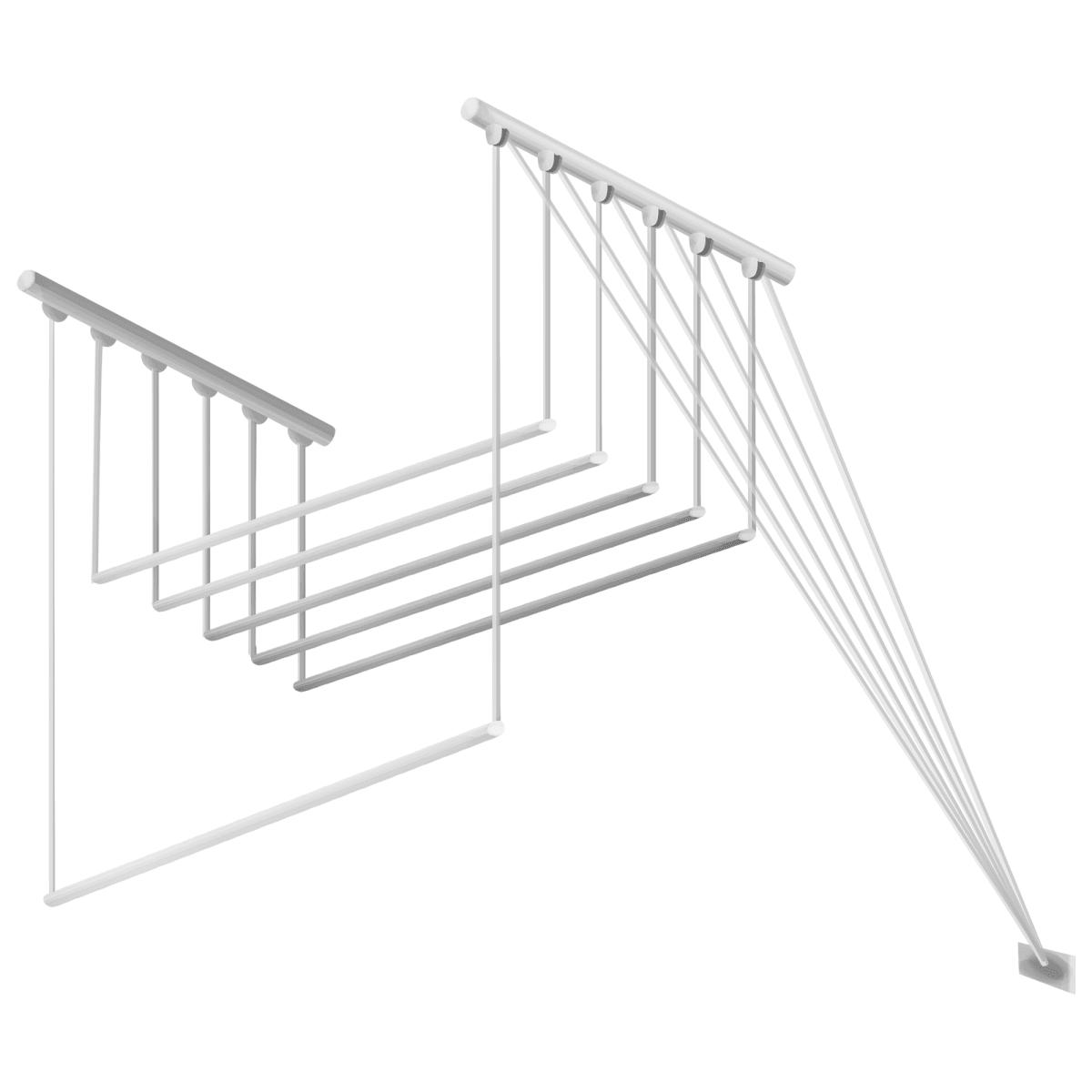 Сушилка для белья настенная «Лиана-5», 2.4 м