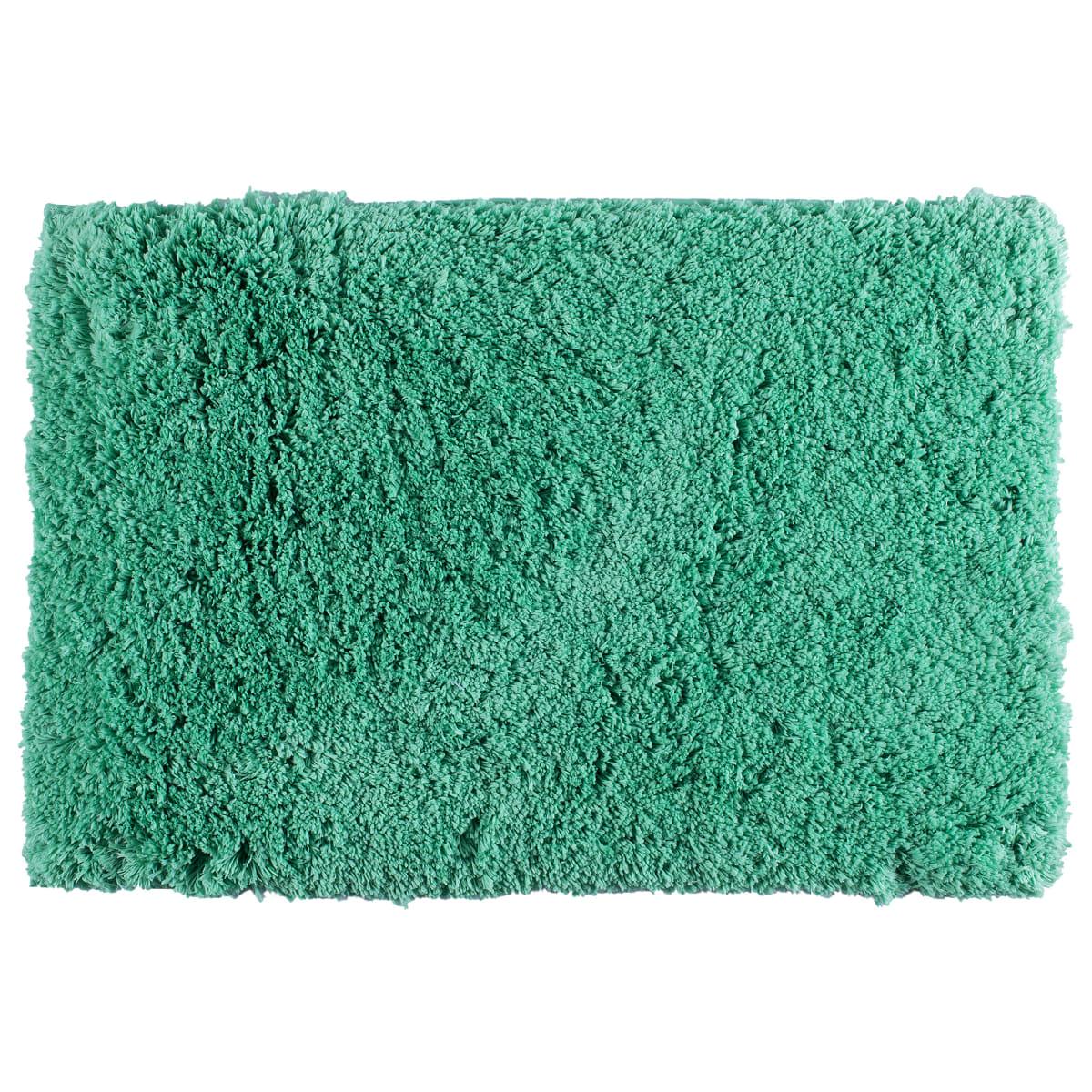 Коврик для ванной комнаты 60х90 см цвет зелёный