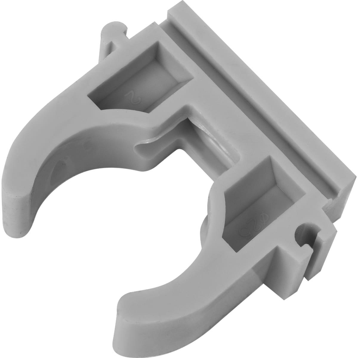 Крепёж трубы FV-Plast, 25 мм, полипропилен, цвет серый