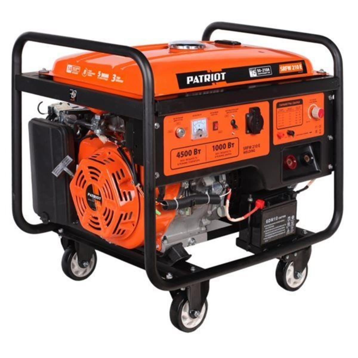 Генератор бензиновый SRFW210E 4 кВт с электрозапуском, сварка 210 А