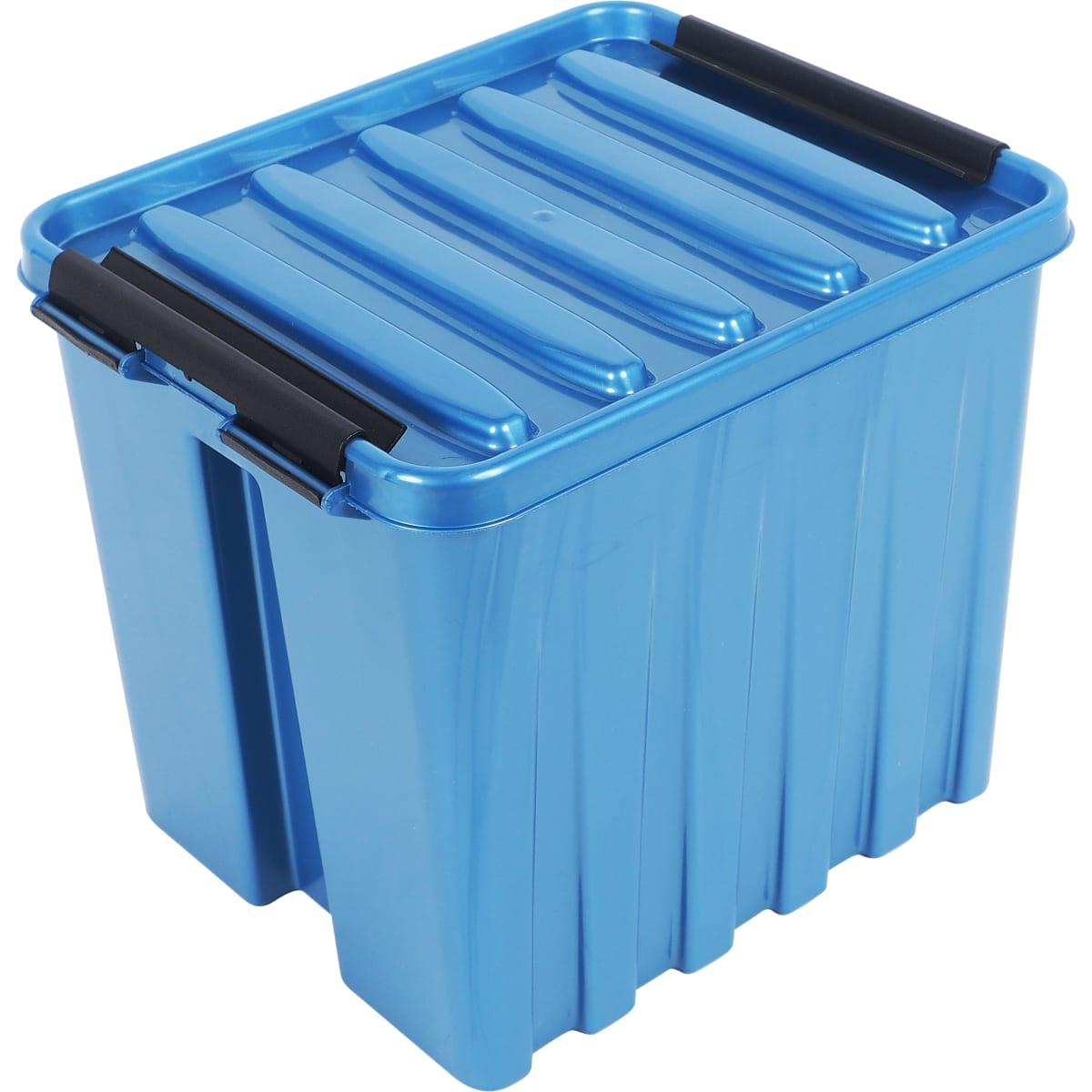 Контейнер Rox Box с крышкой 17x18x21 см, 4.5 л, пластик цвет синий