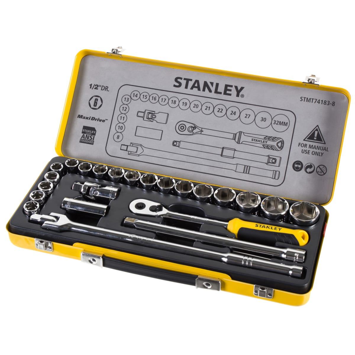 Набор торцевых головок Stanley 1/2 дюйма, 24 предмета