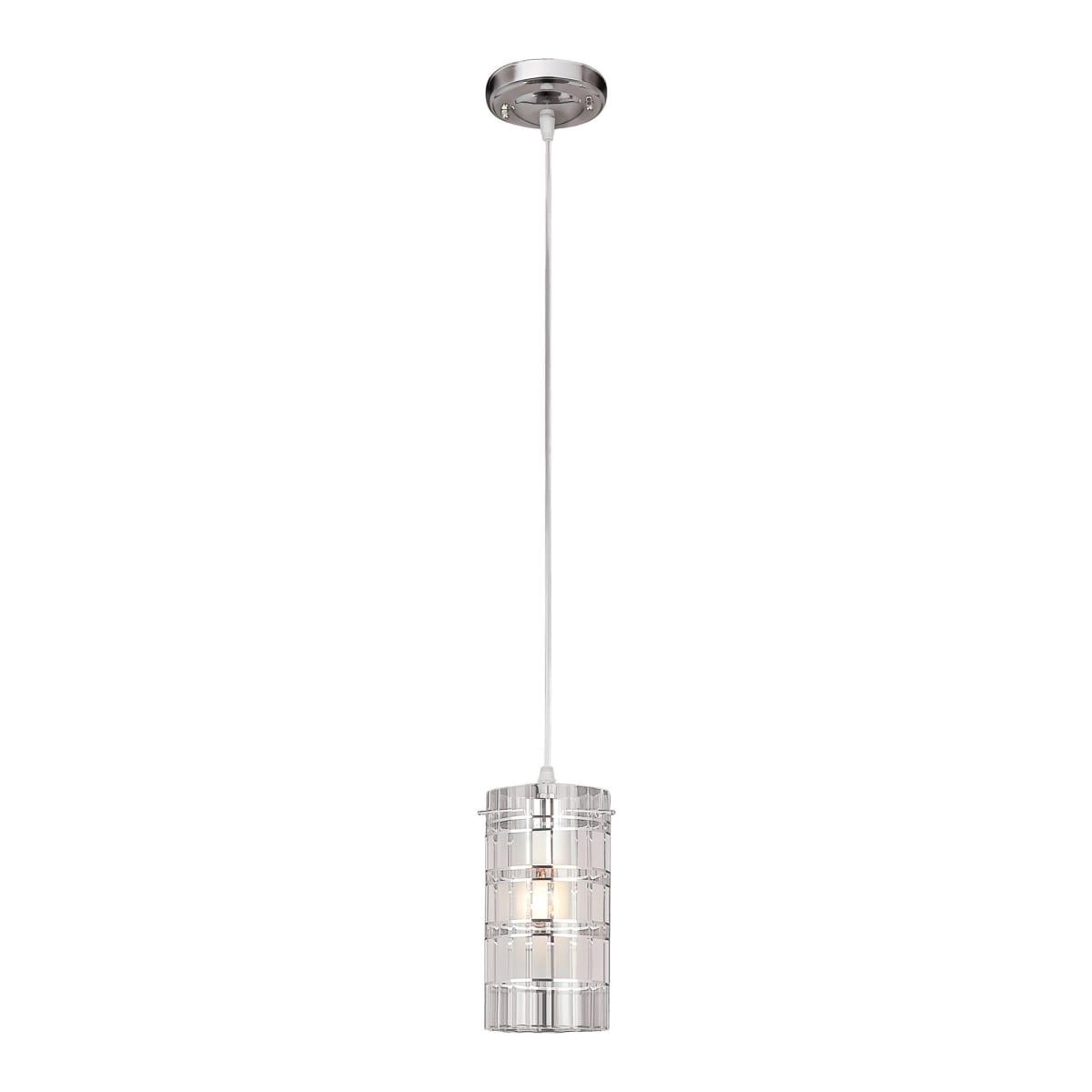 Светильник подвесной Eurosvet Аксиома, 1 лампа, 5 м², цвет хром