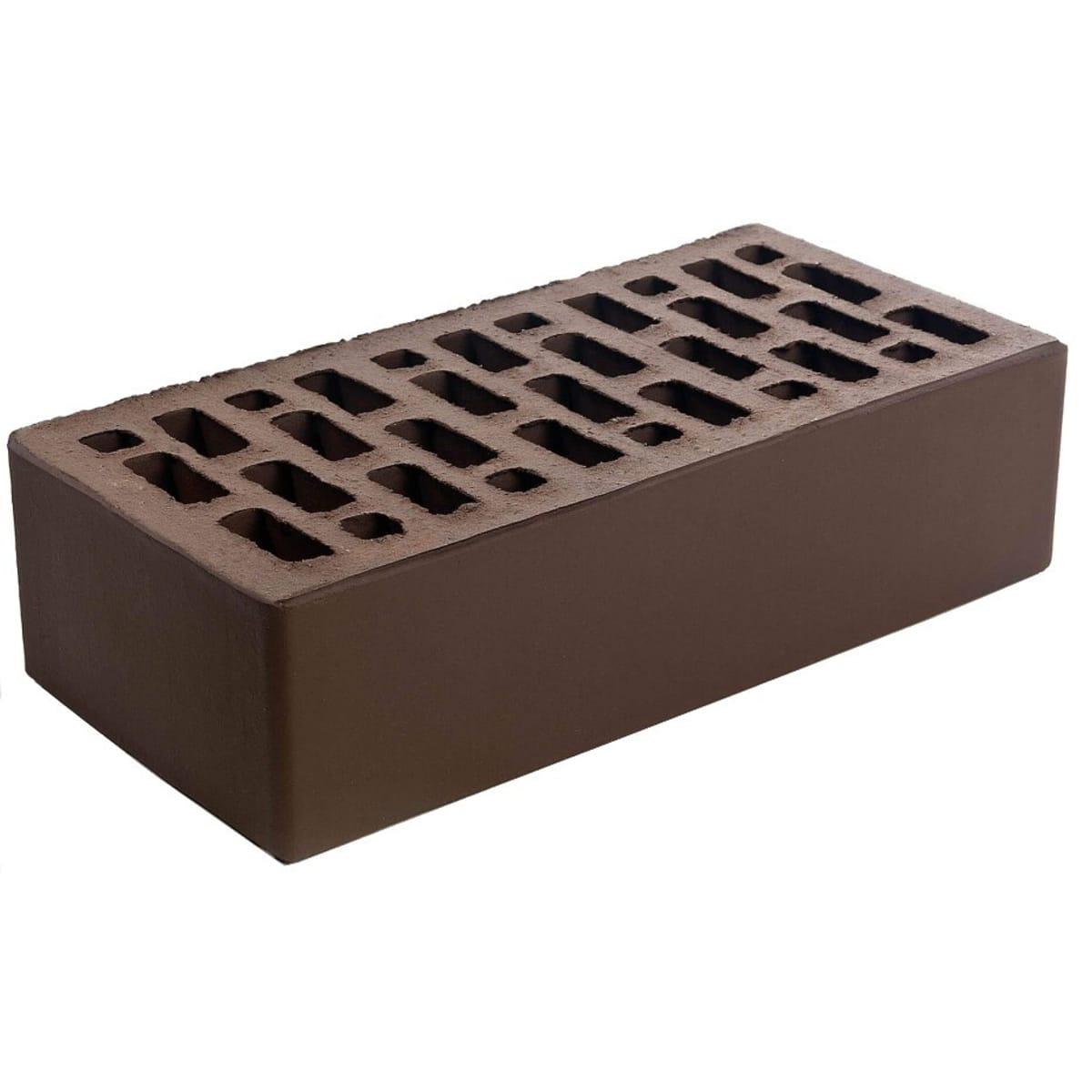 Кирпич облицовочный М150, цвет коричневый