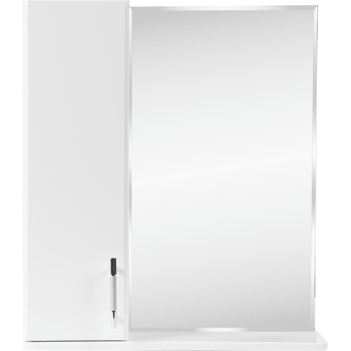 Шкаф зеркальный «Eggo» 60 см цвет белый