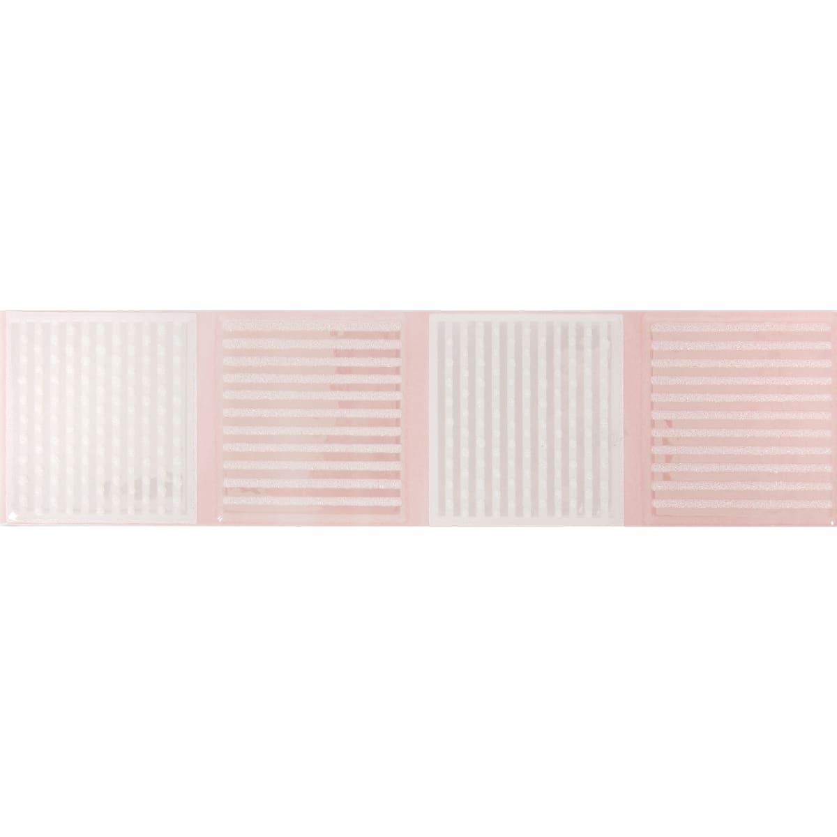 Бордюр «Агата В» 25х6.5 см цвет розовый