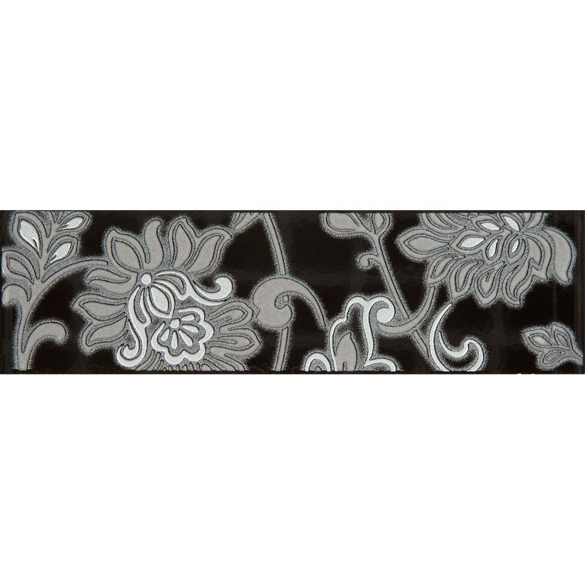 Бордюр «Аджанта» 20х5.7 см цвет чёрный