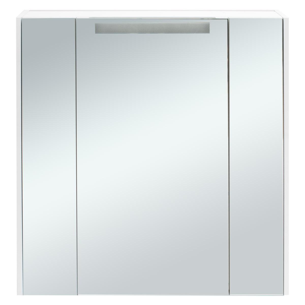 Шкаф зеркальный Aquaton «Мерида» 80 см цвет белый