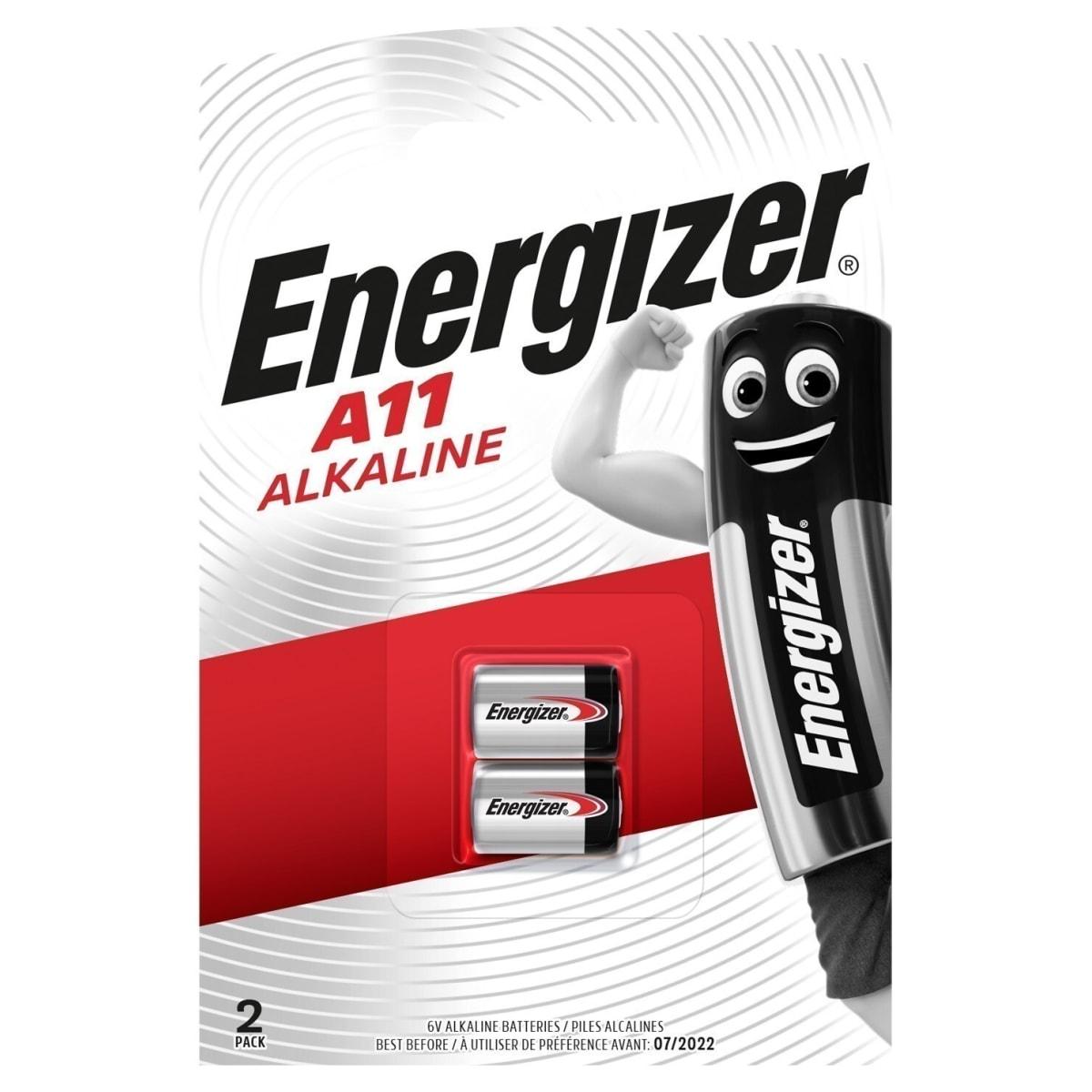 Батарейка алкалиновая Energizer A11, 2 шт.