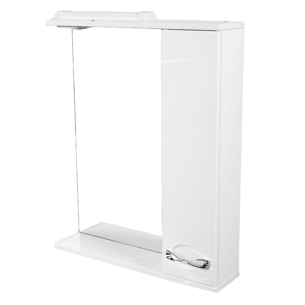 Шкаф зеркальный «Палермо» 65 см цвет белый