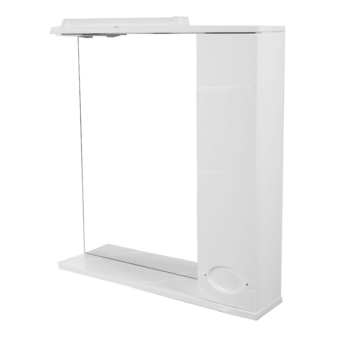 Шкаф зеркальный «Палермо» 71,4 см цвет белый