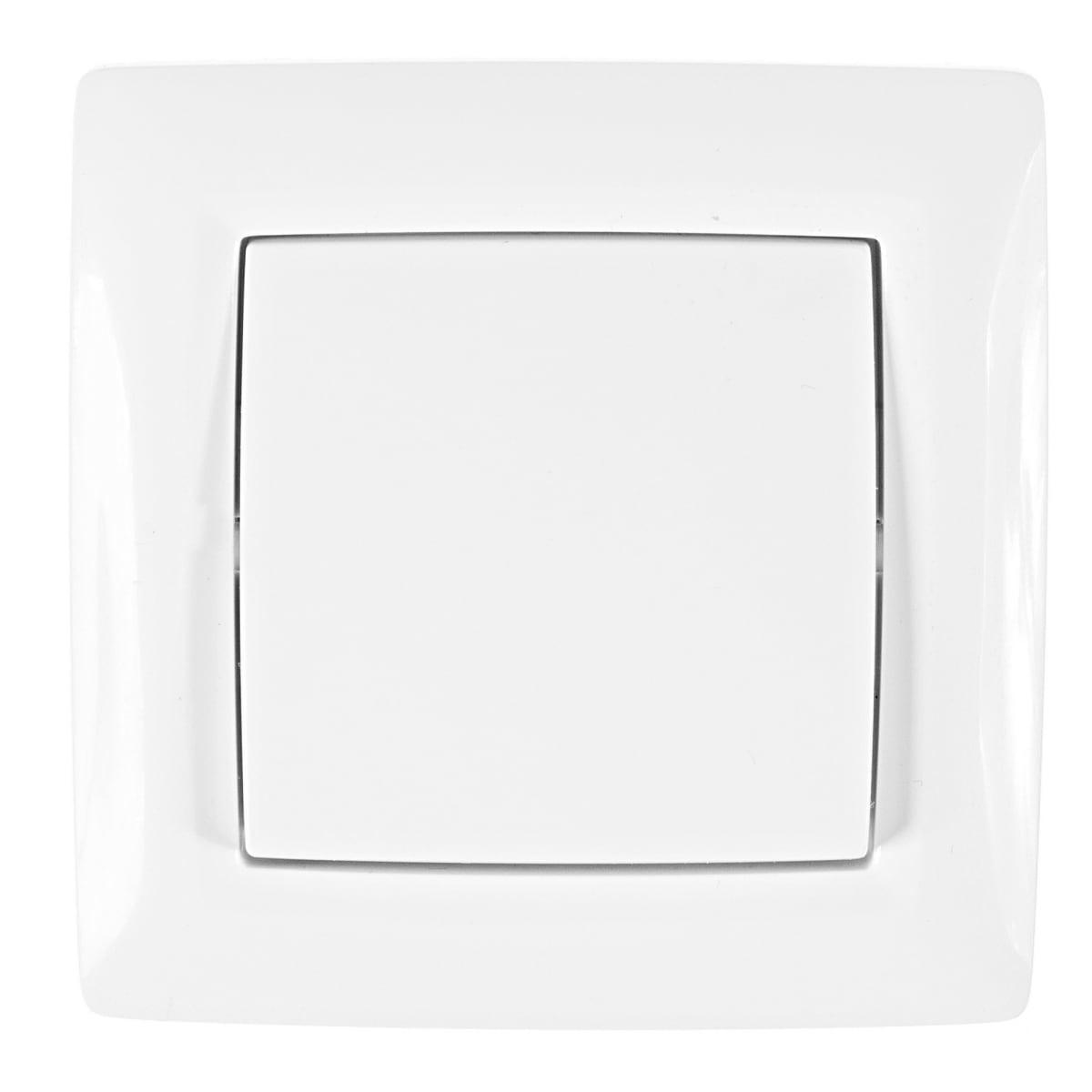 Выключатель встраиваемый Reone 1 клавиша, цвет белый