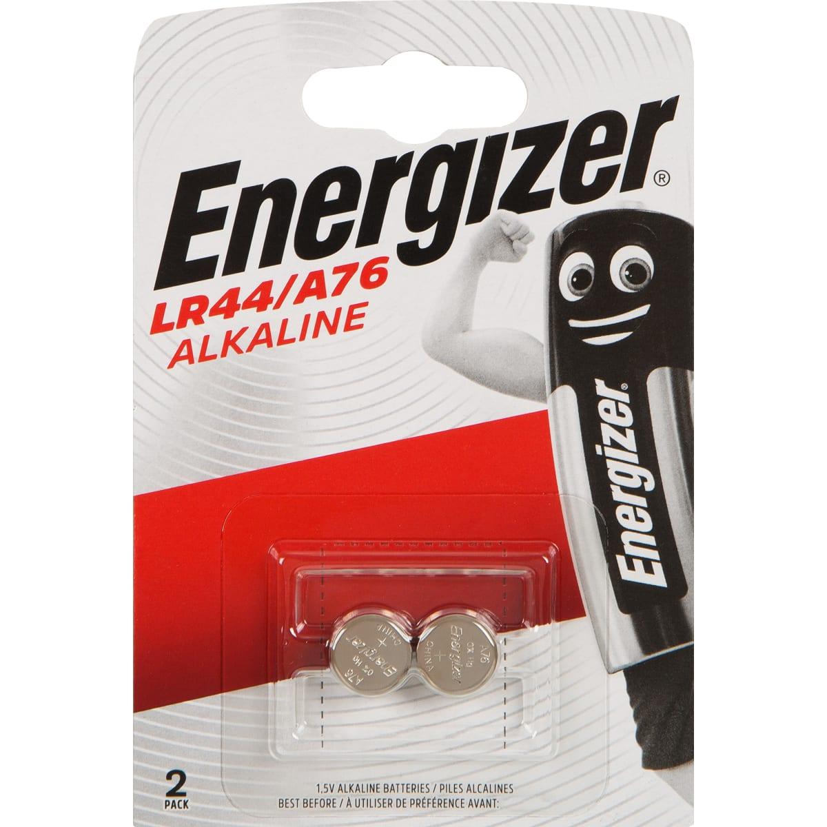 Батарейка алкалиновая Energizer LR44/A76 FSB2, 2 шт.