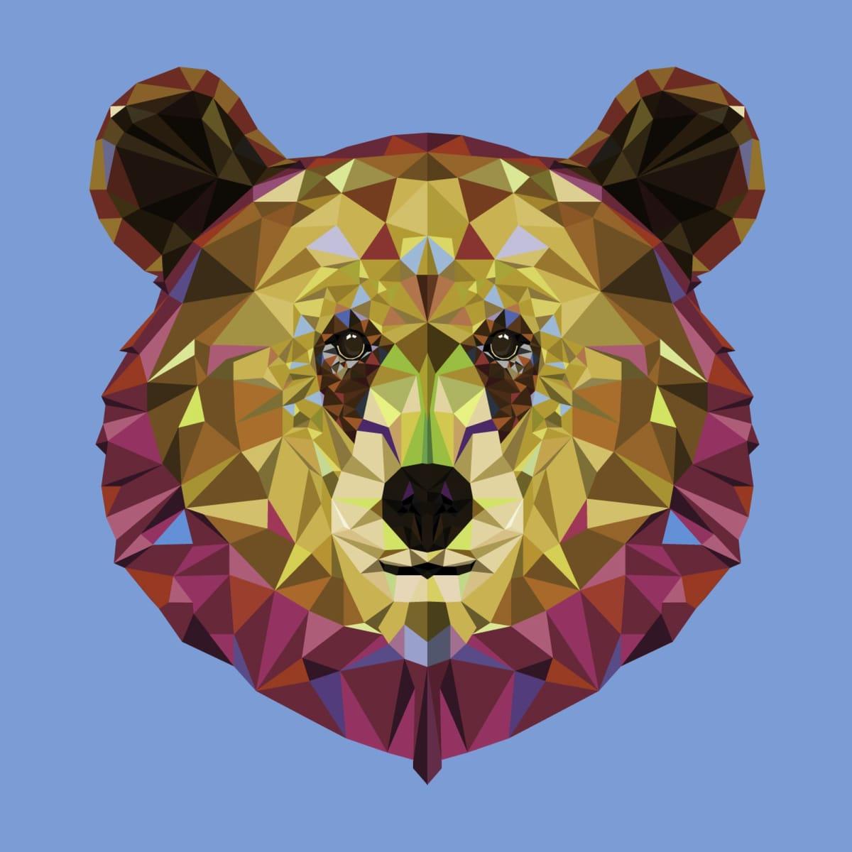 Картина на холсте «Голова медведя» 30х30 см