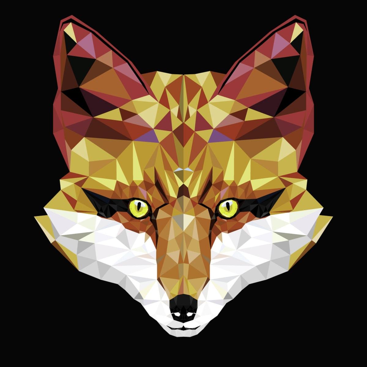 Картина на холсте «Голова лисы» 30х30 см