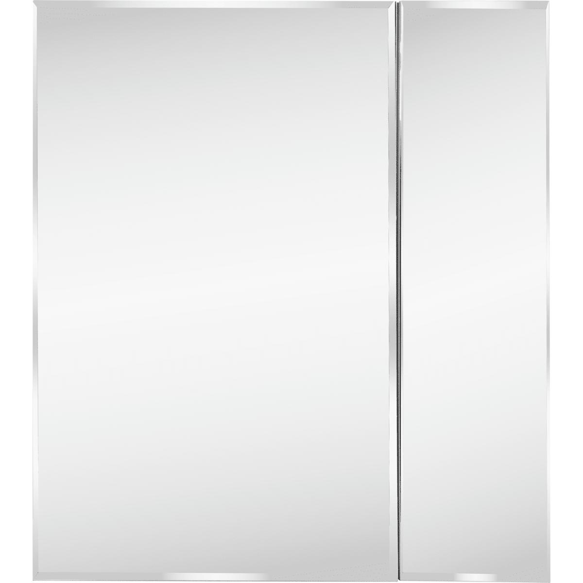 Шкаф зеркальный «Форте» 70 см цвет белый
