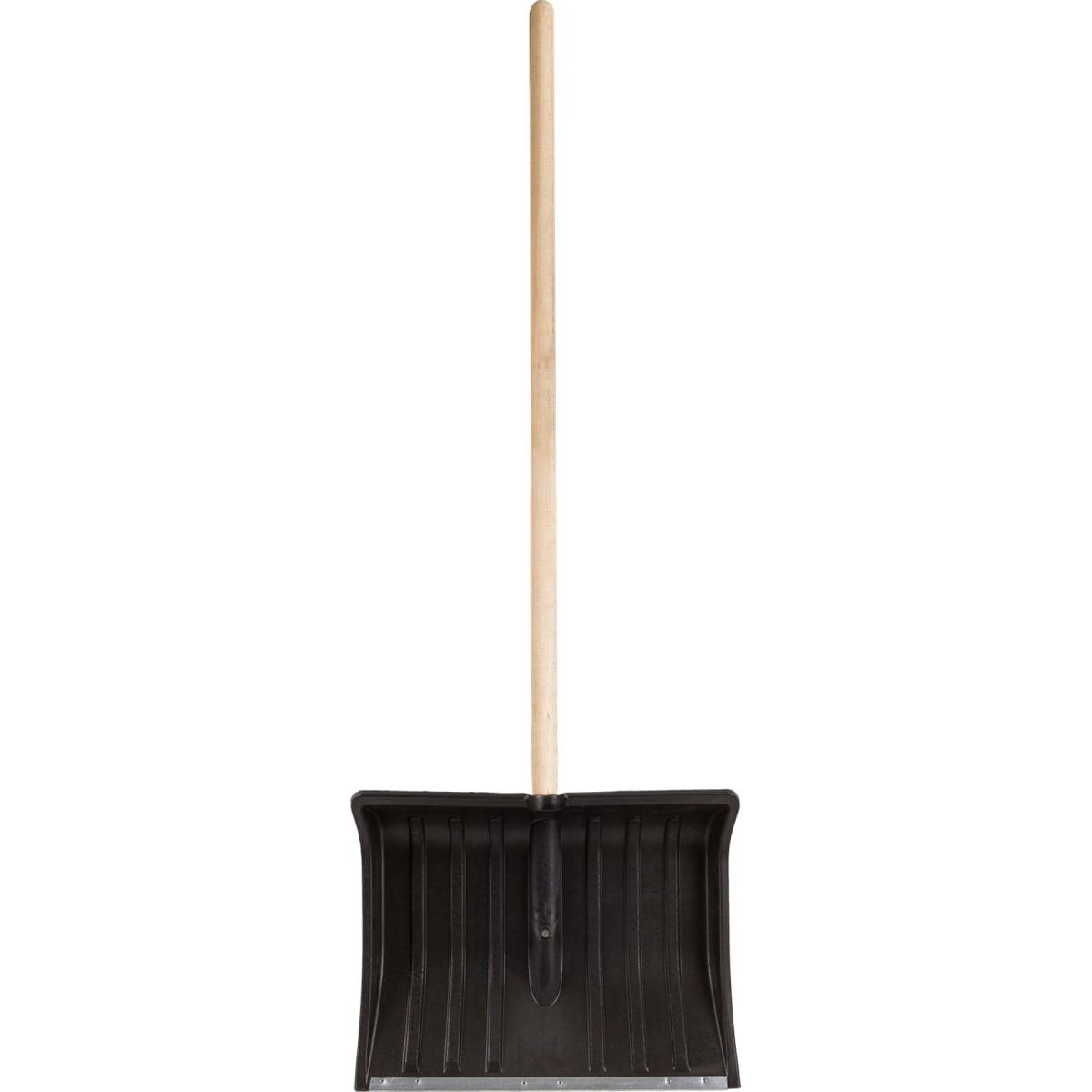 Лопата для уборки снега с планкой 50 см деревянный черенок