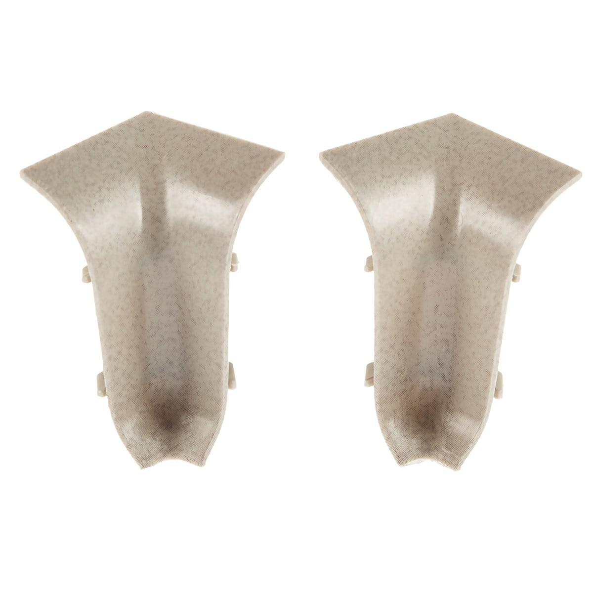Угол для плинтуса внутренний «Светлый Мрамор» 47 мм 2 шт.