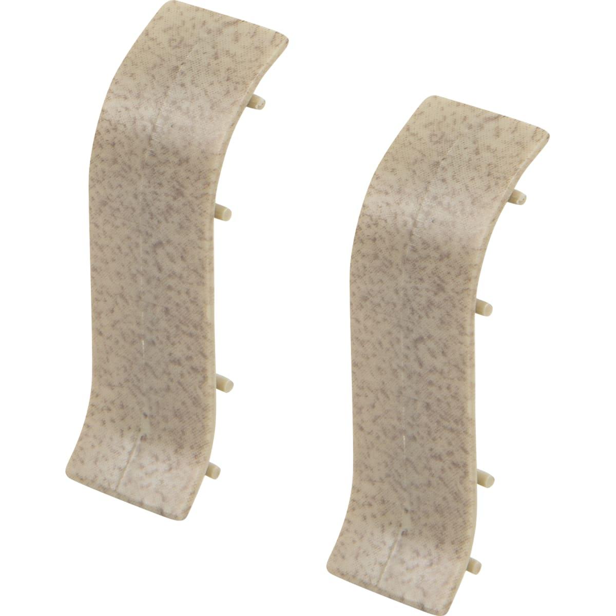 Соединитель для напольного плинтуса «Светлый Мрамор» 55 мм 2 шт.