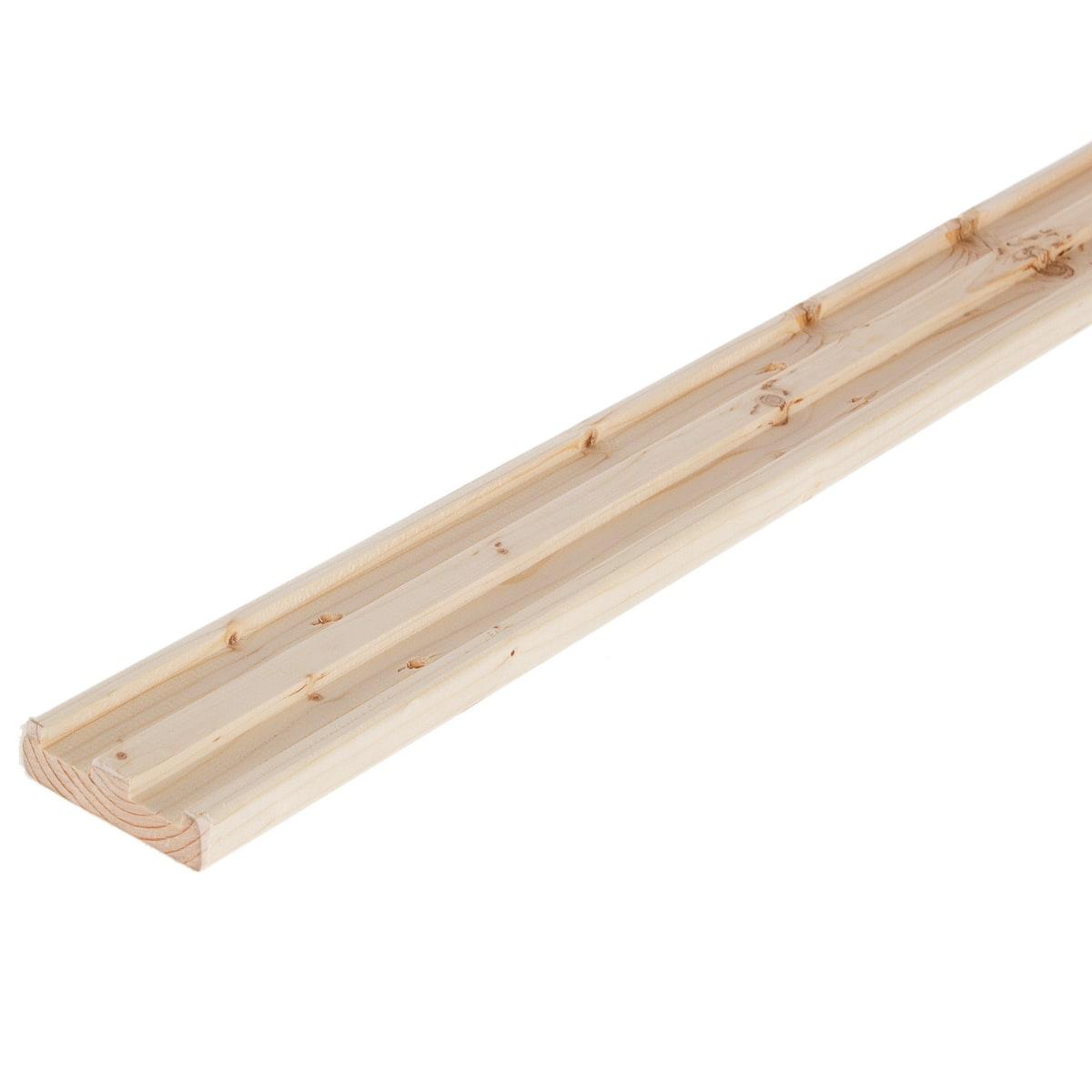 Стойка двупазная для стеллажа 1328х67х18 мм, дерево, 1 шт.