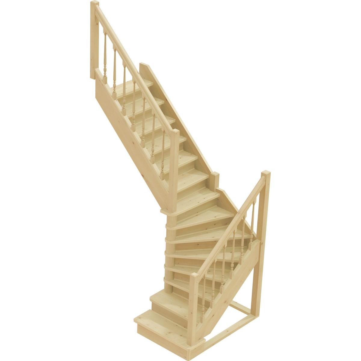 Лестница поворотная на 90° ЛС-225, универсальная