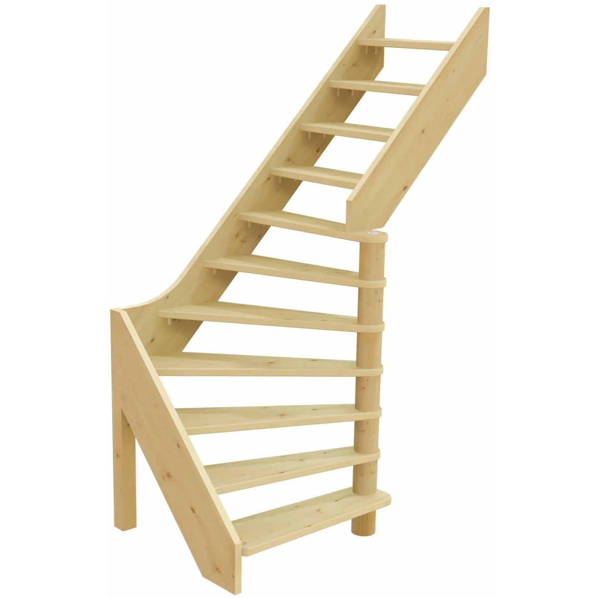 Лестница поворотная на 90° ЛС-92, универсальная