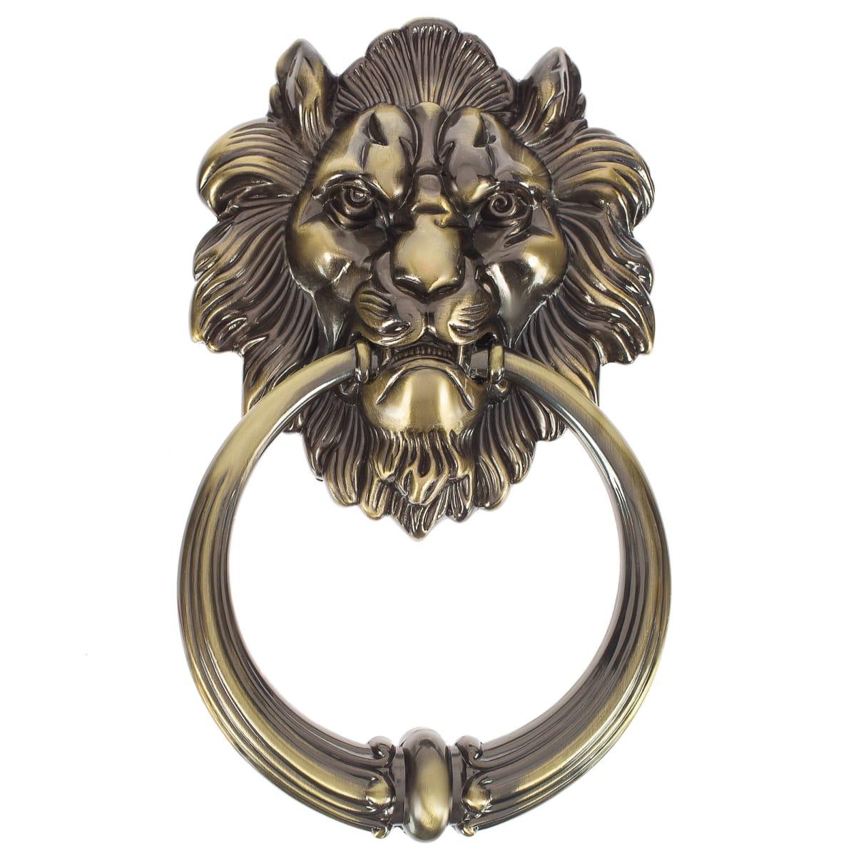 Молоток дверной Manzzaro Leone 10/40, цвет античная бронза