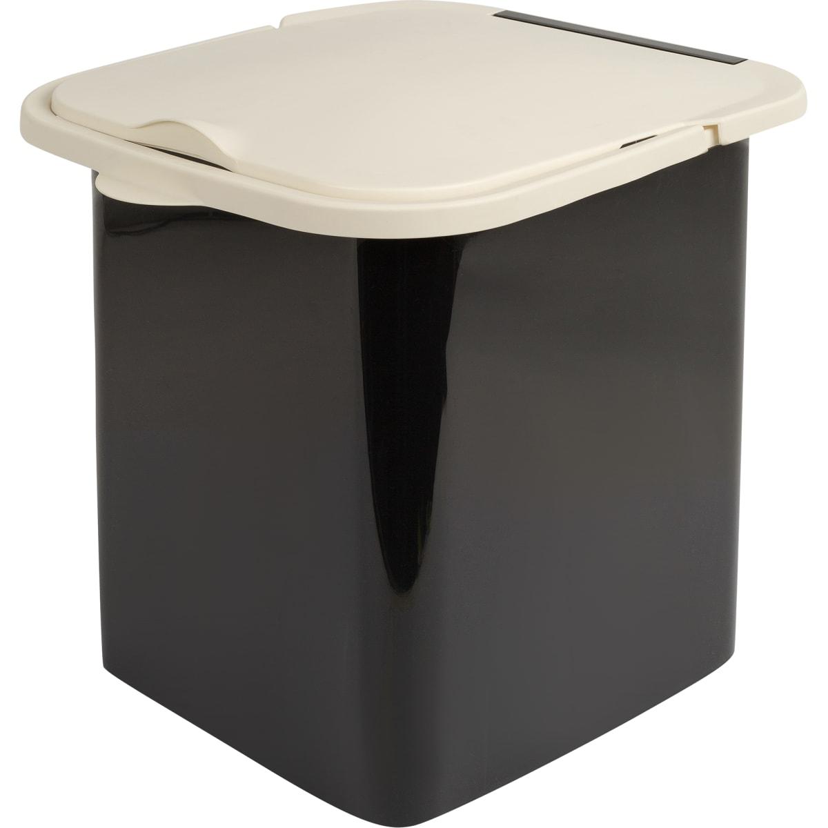 Мусорный контейнер MIO, 18 л, цвет молочный