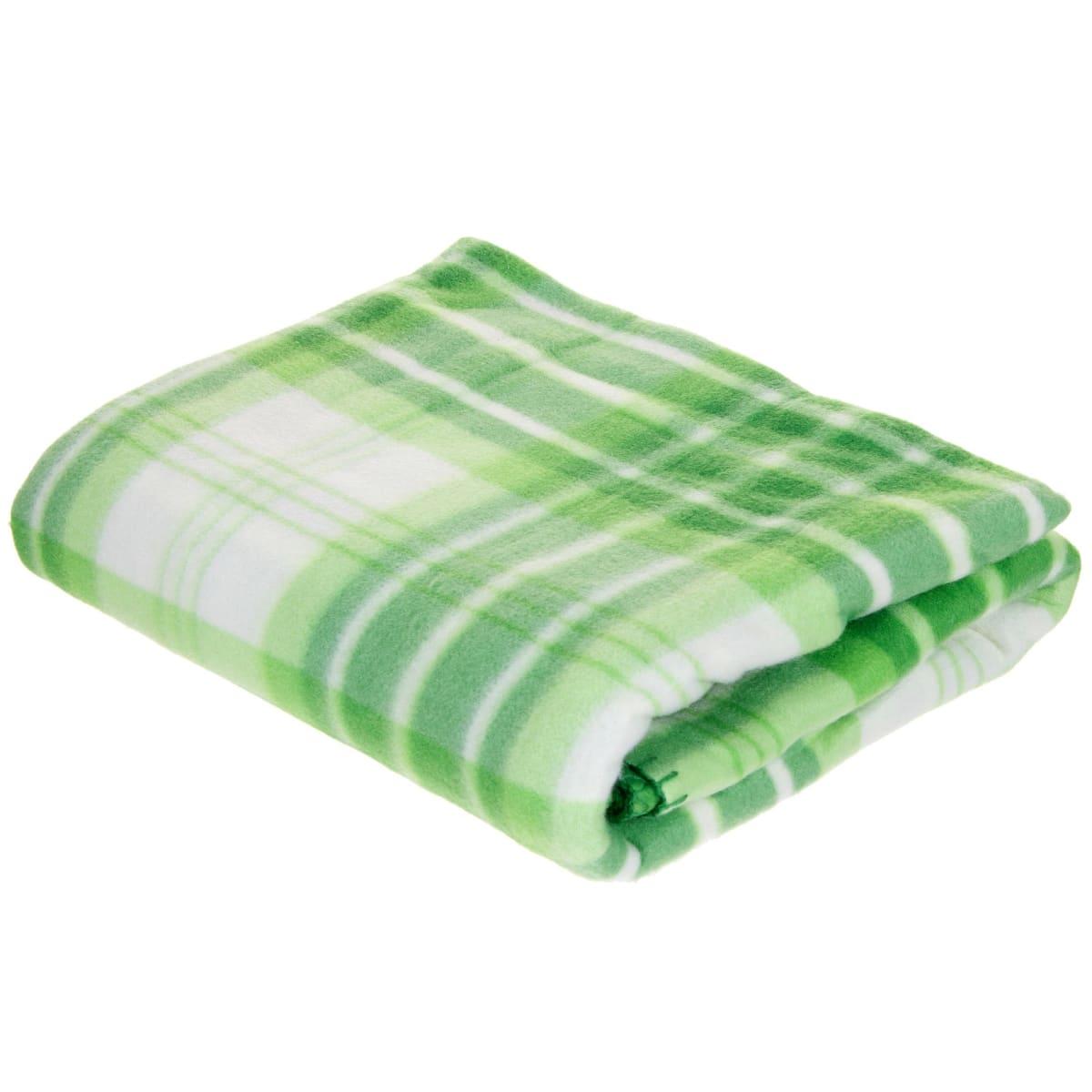 Плед «Basic» 130х170 см флис цвет зелёный